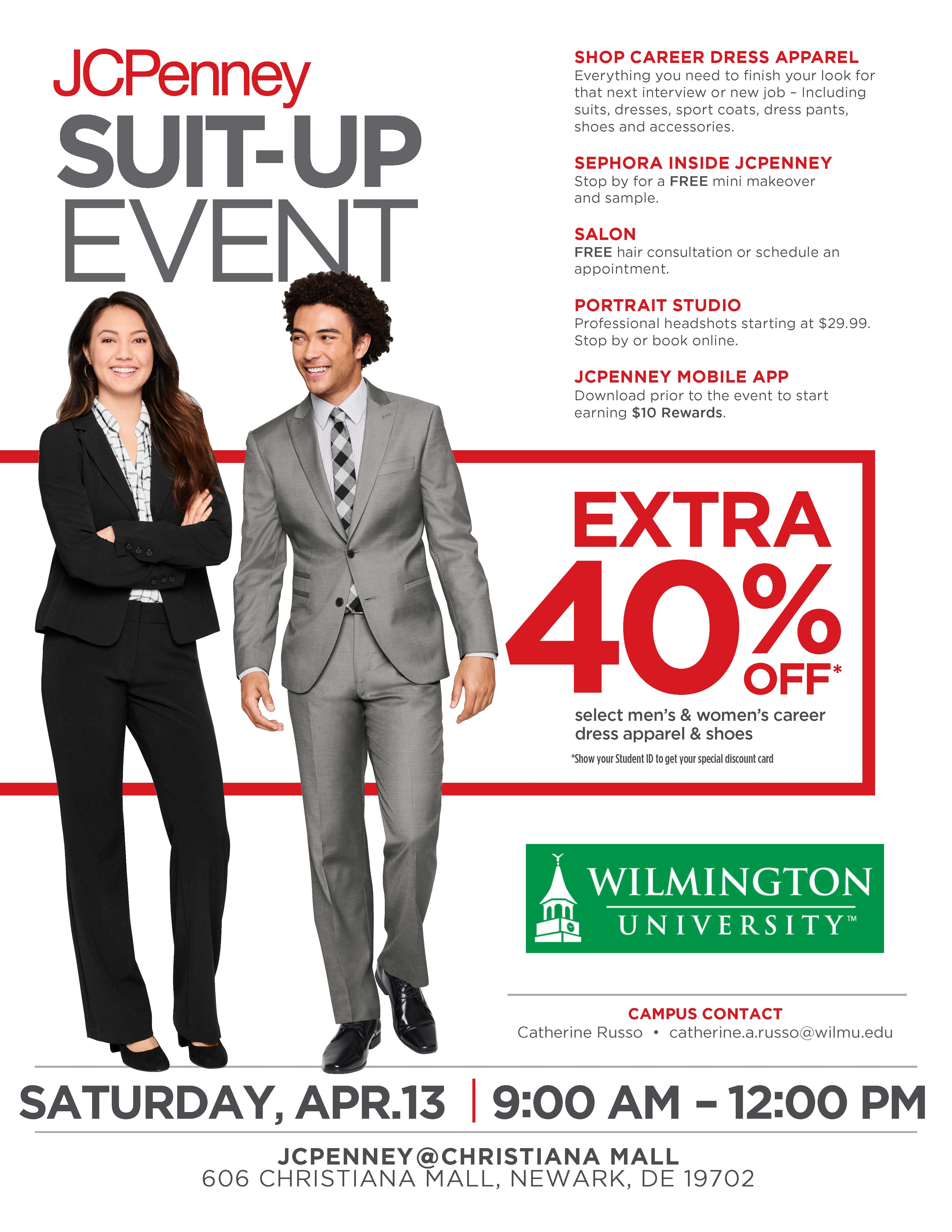 Student Services Calendar - JCPenney Suit Up Event