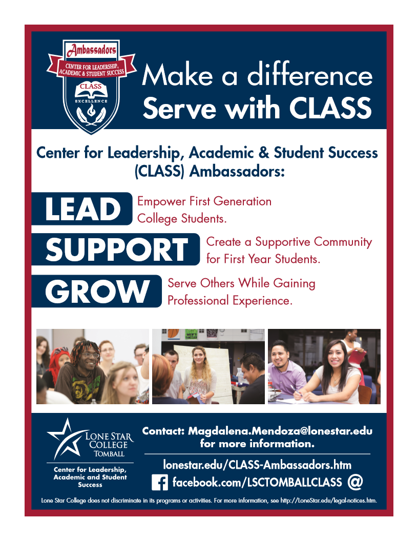 lonestaredu LSC-Tomball - CLASS Ambassador Information Session