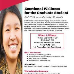 Image for: Emotional Wellness for the Graduate Student Workshop