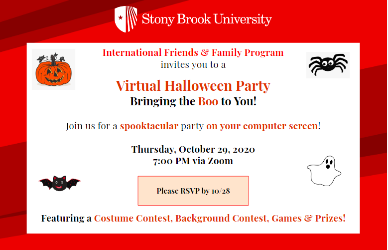 Stony Brook University Halloween 2020 Global Affairs   IFFP Virtual Halloween Event