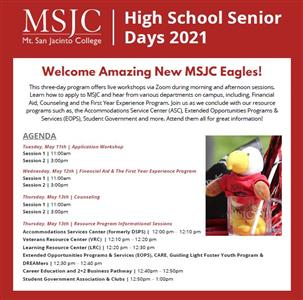 MSJC Welcomes High School Seniors to Virtual Tour to Learn More about the College