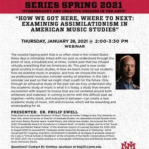 Image for: Musicology Colloquium Series Talk with Dr. Philip Ewell