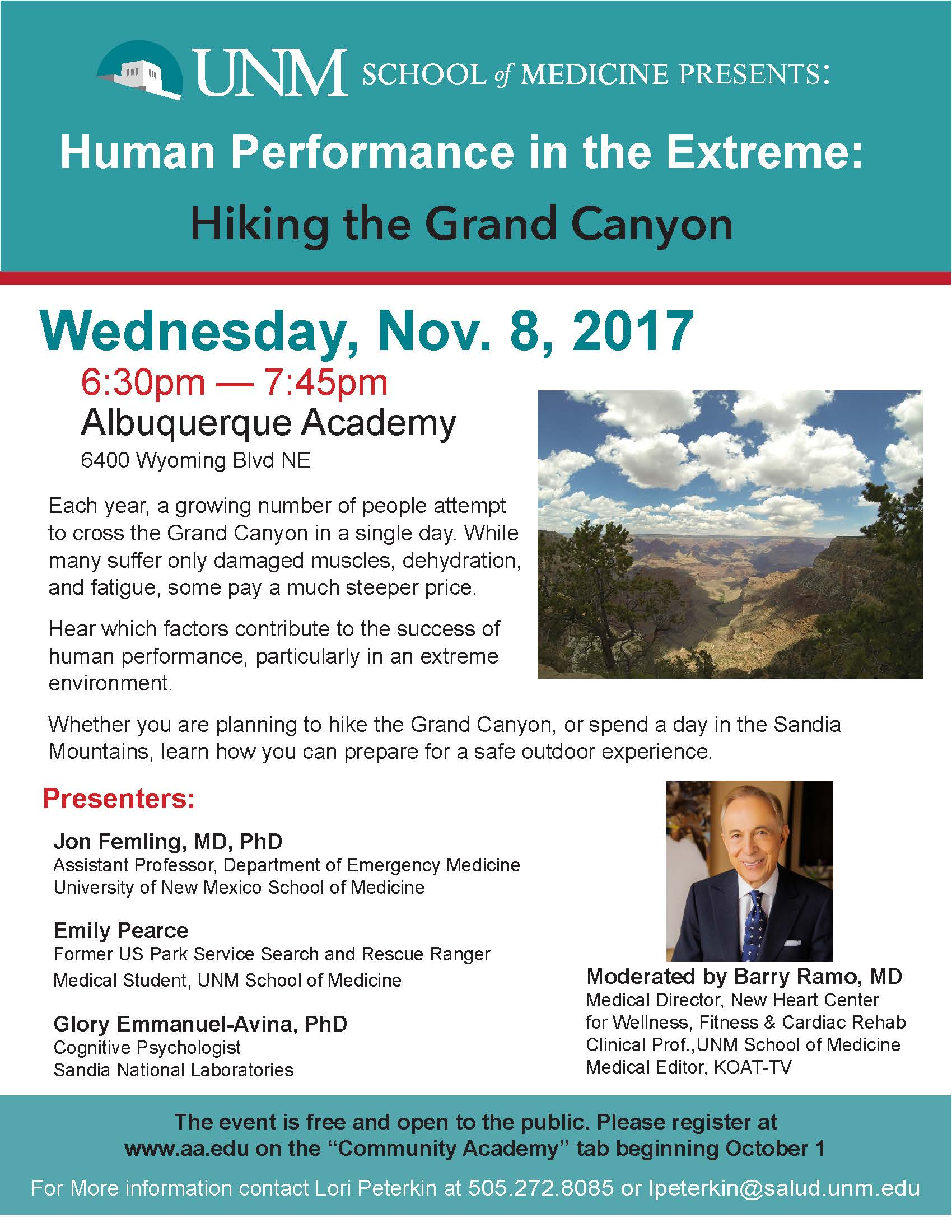 Unm Health Sciences Human Performance In The Extreme Hiking The