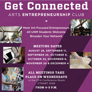 Image for: UNM Arts Entrepreneurship Club Meeting