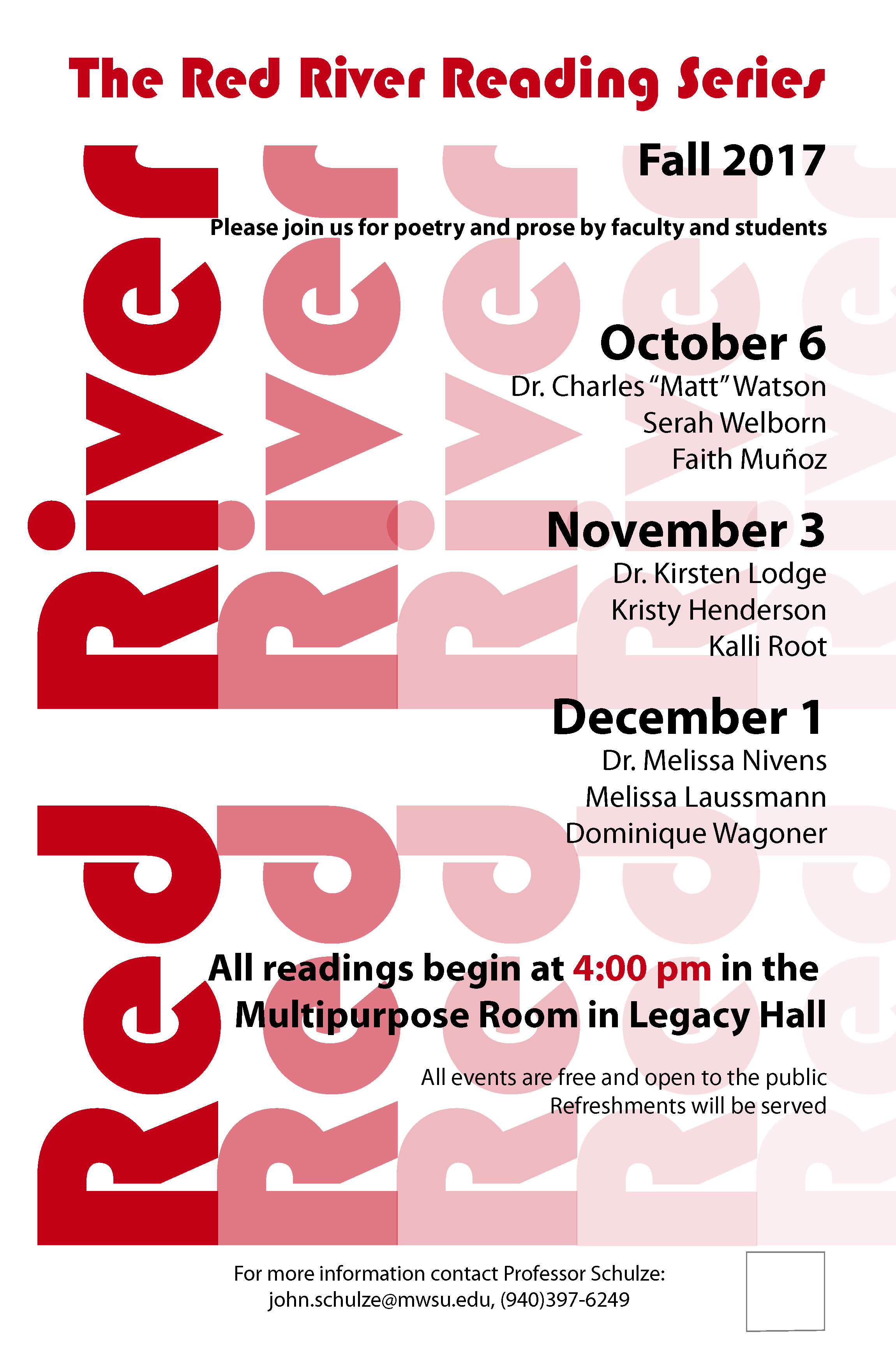 Midwestern State University Red River Reading Series
