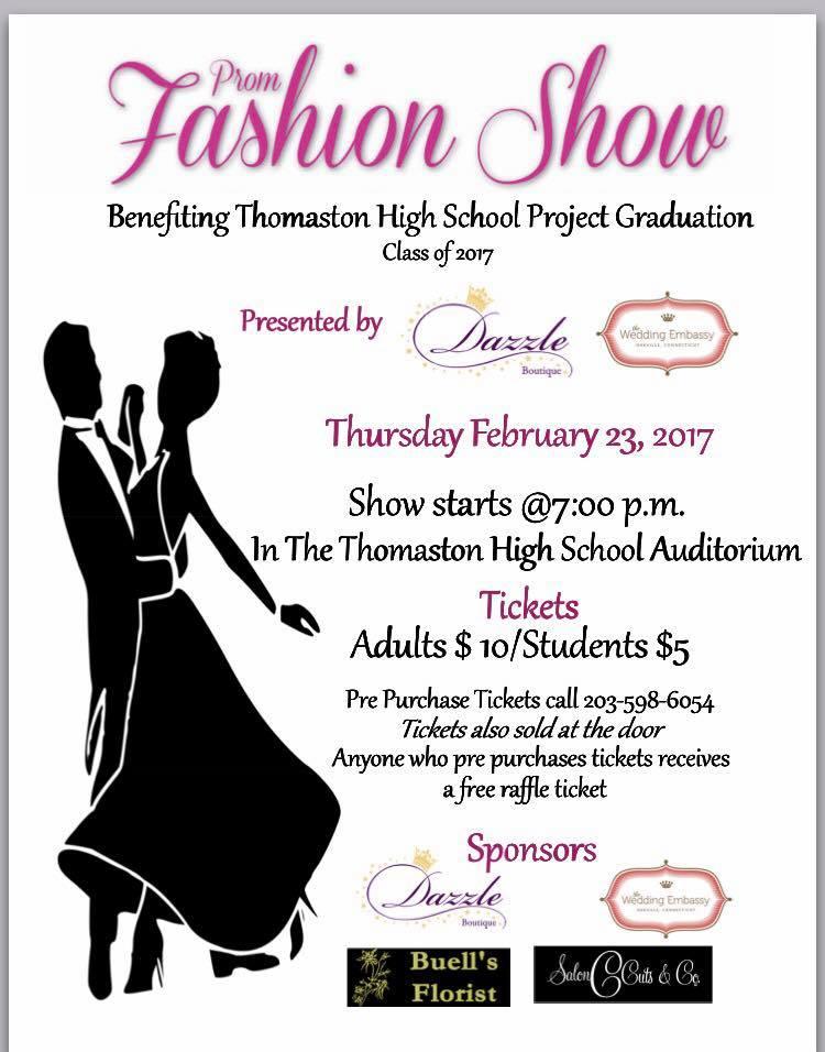 Thomaston CT Community Calendar - Project Graduation Prom Fashion Show