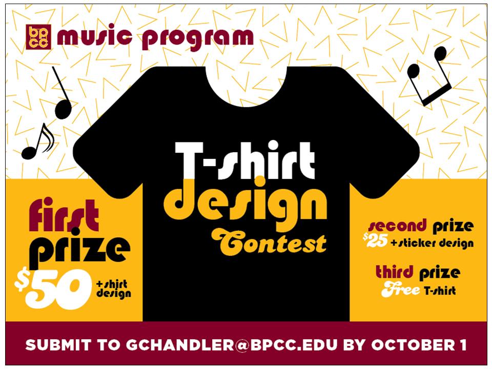 Bpcc Events Calendar Music Program Shirt Design Contest