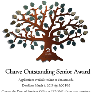 Image for: Clauve Outstanding Senior Award Applications