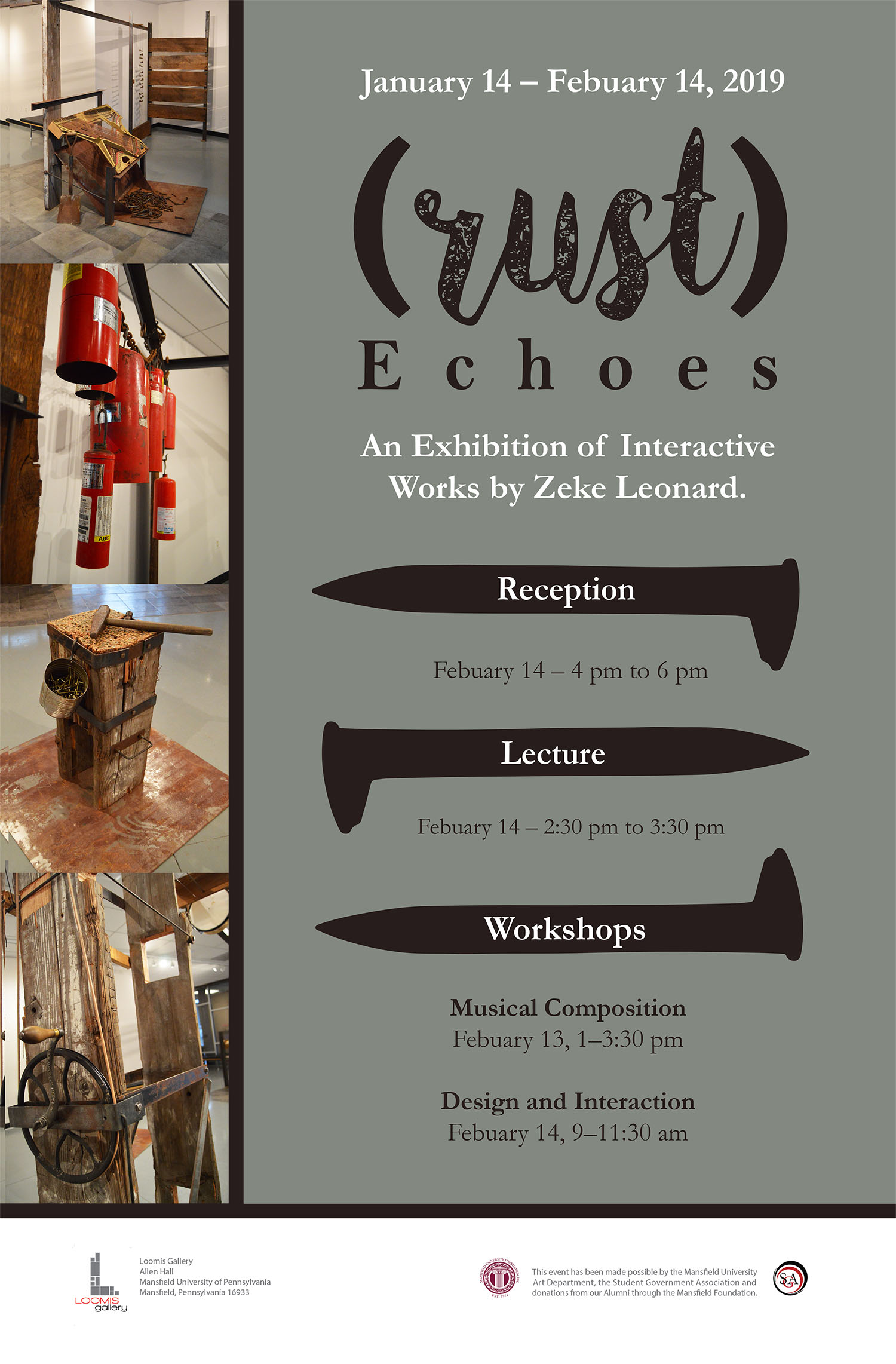 Mansfield University - (rust)Echoes, Design and Interaction