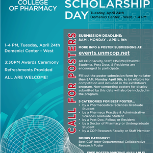 Image for: UNM College of Pharmacy Research and Scholarship Day
