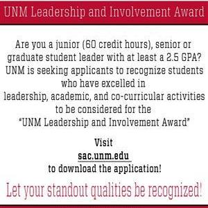 Image for: UNM Leadership and Involvement Award