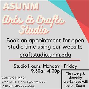 Image for: ASUNM Arts and Crafts Studio - Open Hours