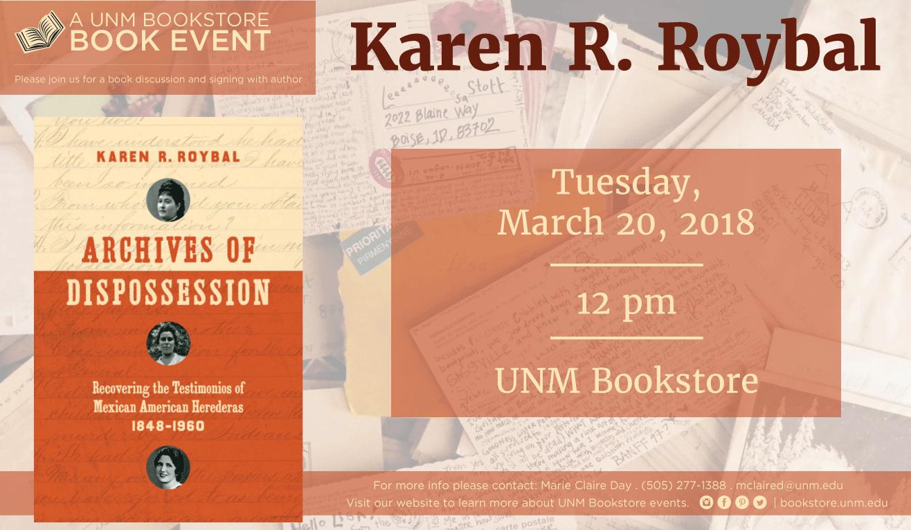 Unm 2022 Calendar.Unm Events Calendar Karen R Roybal Book Event Unm Bookstores