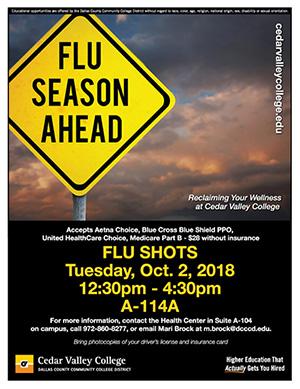 Cedar Valley College - Flu Shots