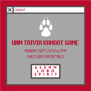 Image for: Homecoming Week: UNM Trivia Kahoot Game