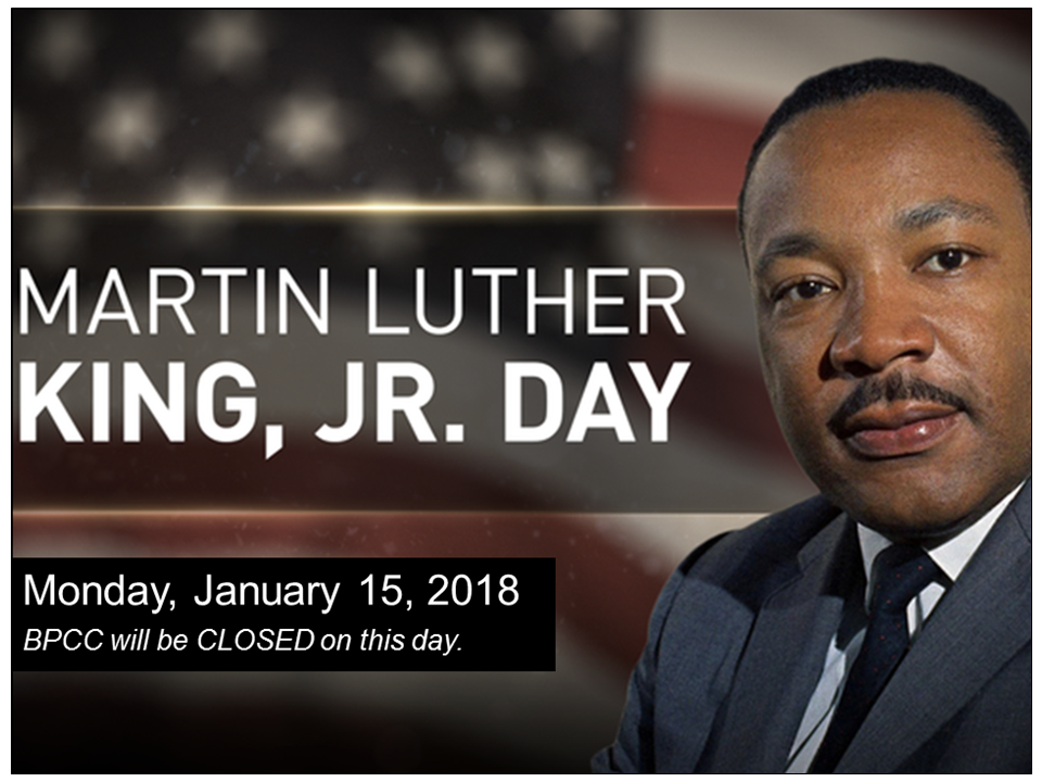 Bpcc Events Calendar Bpcc Closed Mlk Jr Day