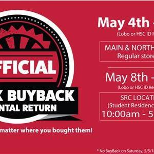 Image for: Official Buyback & Rental Return @ UNM Bookstores!