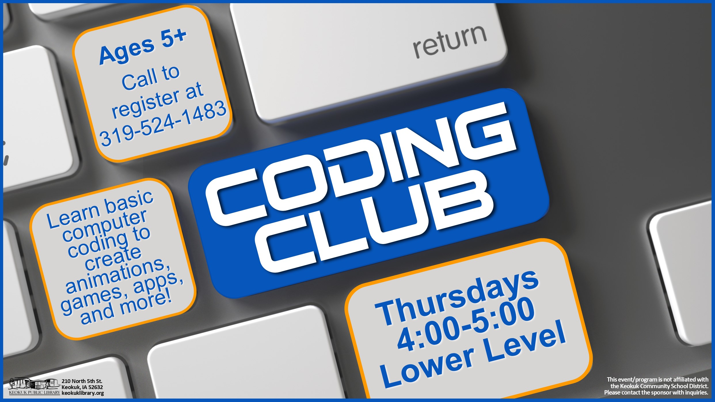 keokuk events coding club