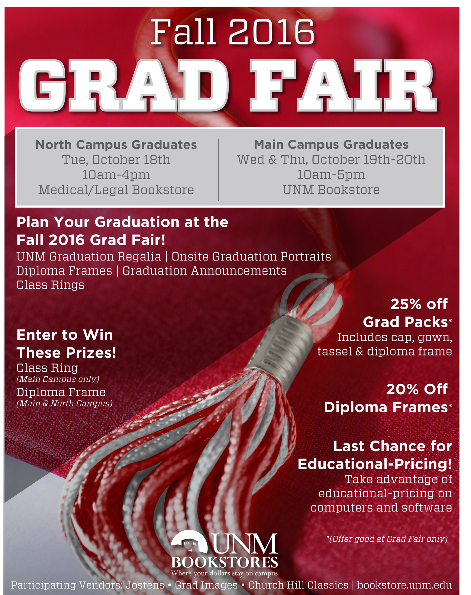 Unm Events Calendar Fall 2016 Grad Fair