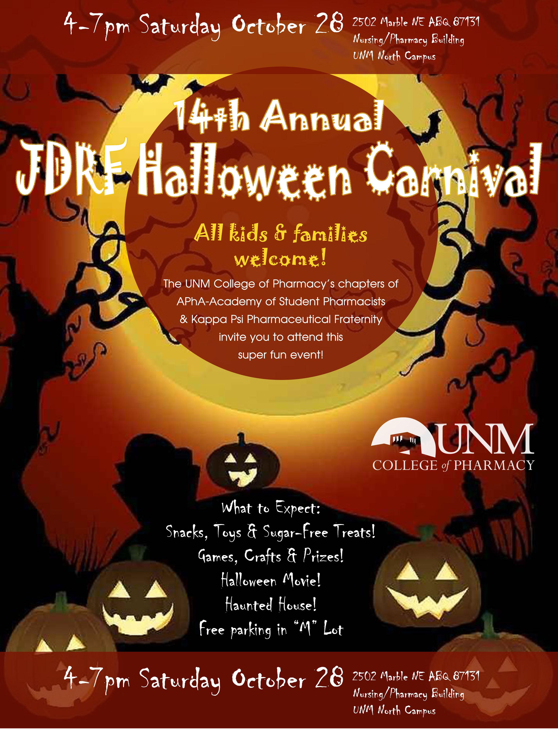 unm events calendar - 14th annual jdrf halloween carnival