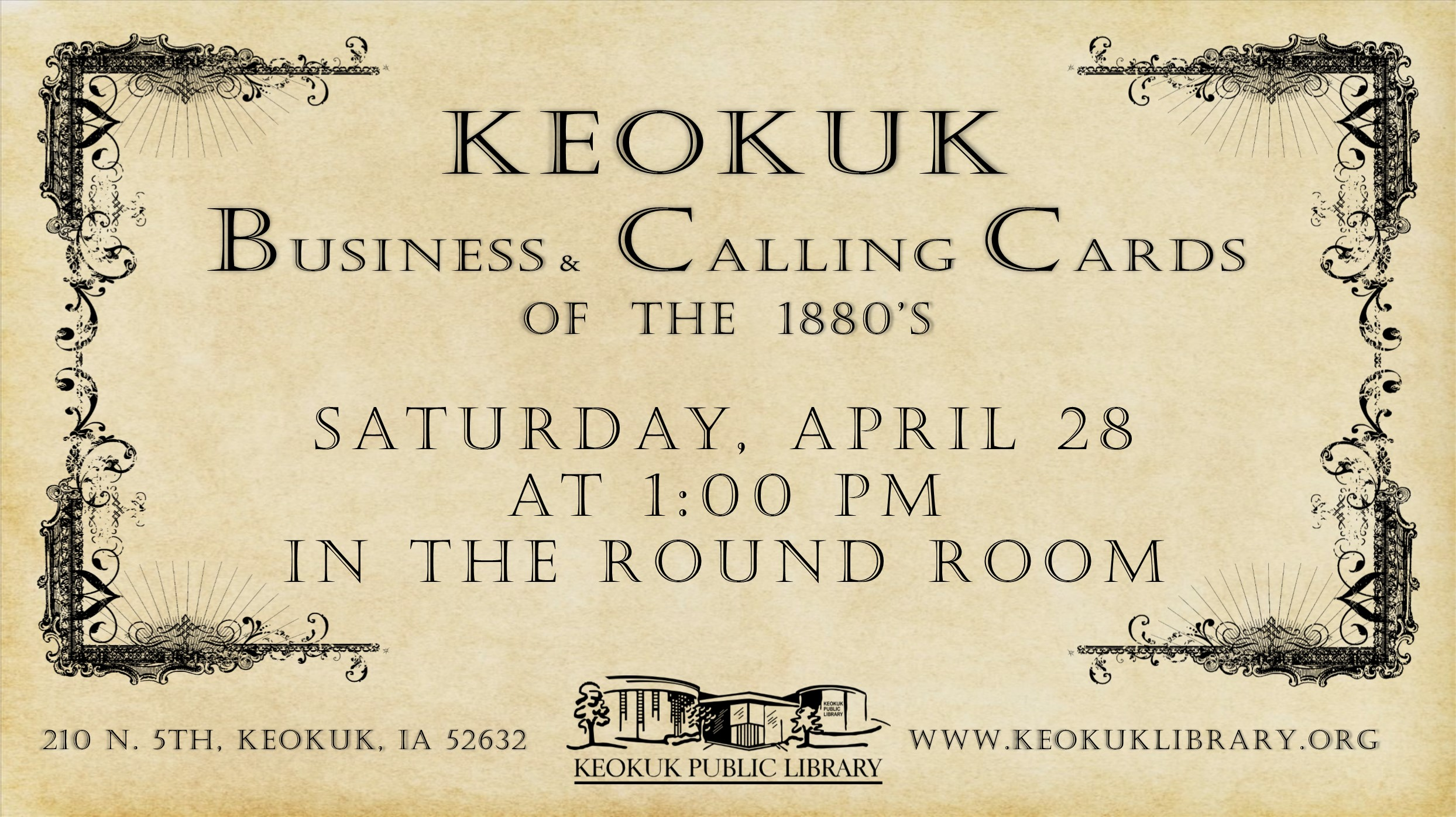 Keokuk Events - Keokuk Business and Calling Cards of the 1880\'s