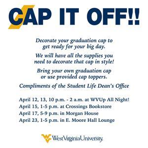 4b95605b674 Cap It Off - Graduation Cap Decorating