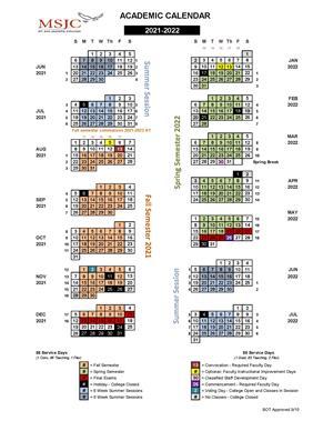 Sdsu Academic Calendar Spring 2022.Msjc Events 2021 2022 Academic Calendar Is Now Available
