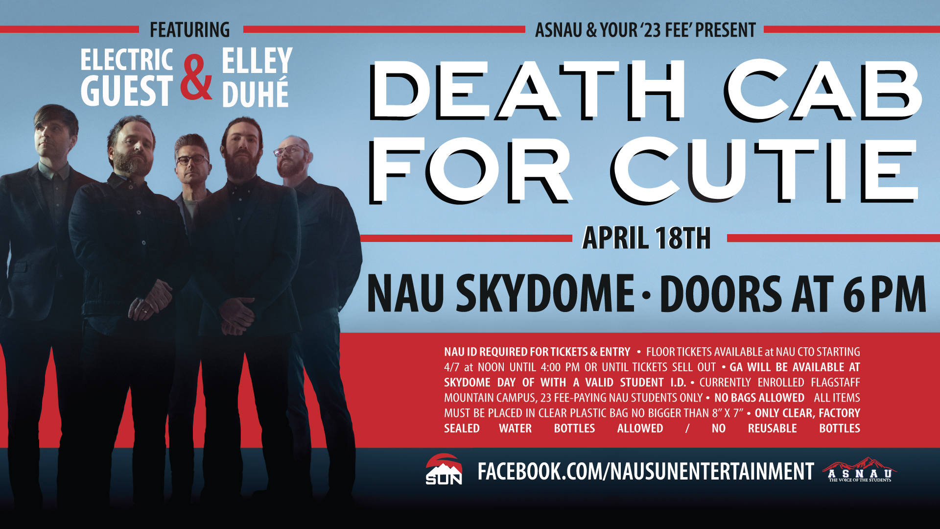 Asnau Spring 2019 Concert Death Cab For Cutie Nau Events