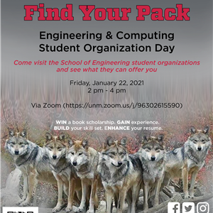 Image for: Find Your Pack: Engineering & Computing Student Organization Day