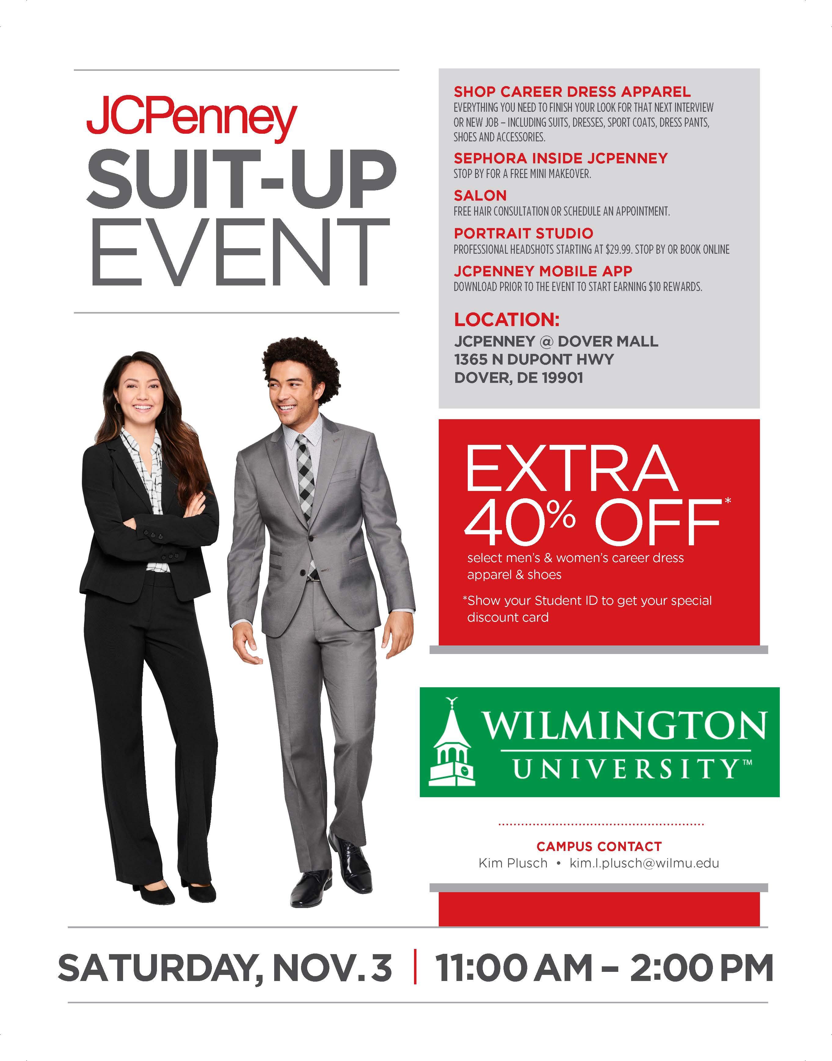 Student Services Calendar Jcpenney Suit Up Event