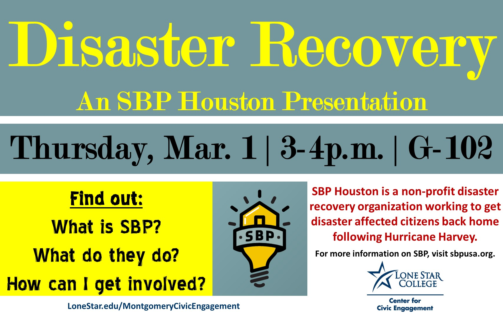 lonestaredu LSC-Montgomery - Disaster Recovery: An SBP Houston Presentation