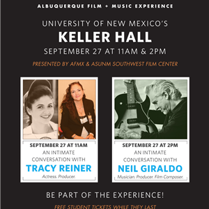 Image for: An Intimate Conversation with Tracy Reiner and Neil Giraldo - ASUNM Southwest Film Center