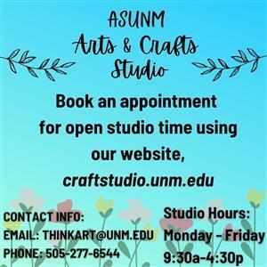 Image for: ASUNM Arts and Crafts Studio - Studio Hours