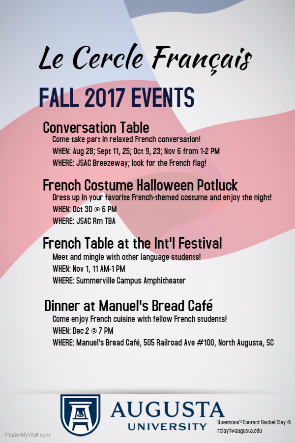 Event Calendar - French Conversation Table