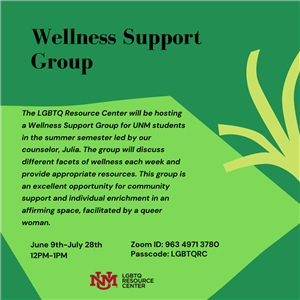Image for: LGBTQIA+ Wellness Support Group