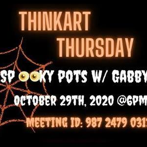 Image for: Think Art Thursday - Spooky Pinch Pots