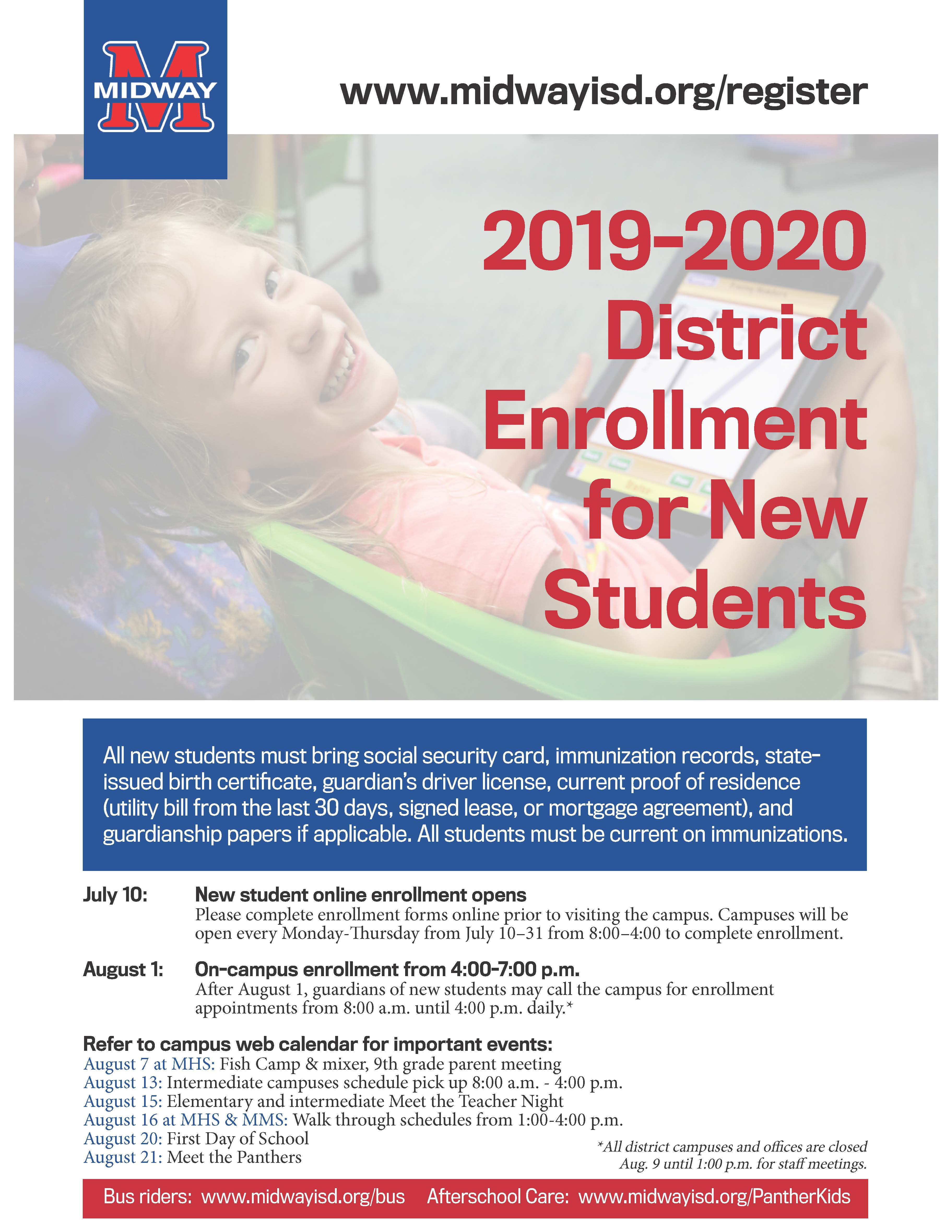 Midway ISD - MISD Online Registration Opens