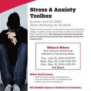 Image for: Stress & Anxiety Toolbox - Zoom Workshop for Students