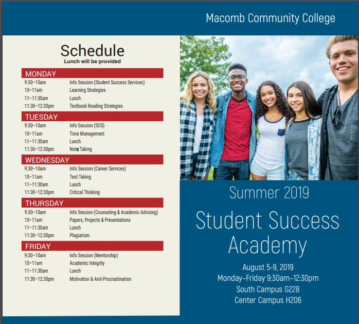 Macomb Community College - Summer 2019 - Student Success Academy on tucson medical center campus map, western illinois campus map, wichita state university campus map, western university campus map, south mountain community college map, community hospital south campus map, tallahassee community college map, ann arbor michigan campus map, mcc campus map, washtenaw community college map, glendale community college map, broward college map, wcc campus map, university of south carolina campus map, ecc south campus map, froedtert medical center campus map, ferris state university campus map,