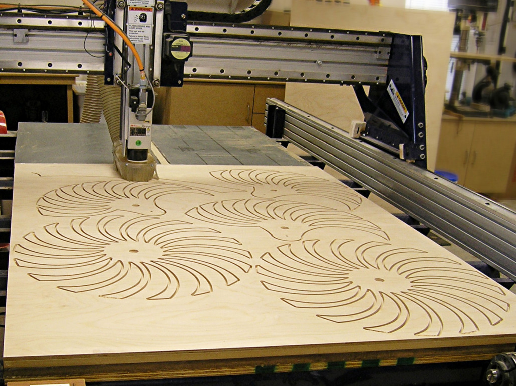 fab lab ncc - new cnc wood routing with 4th axis technology
