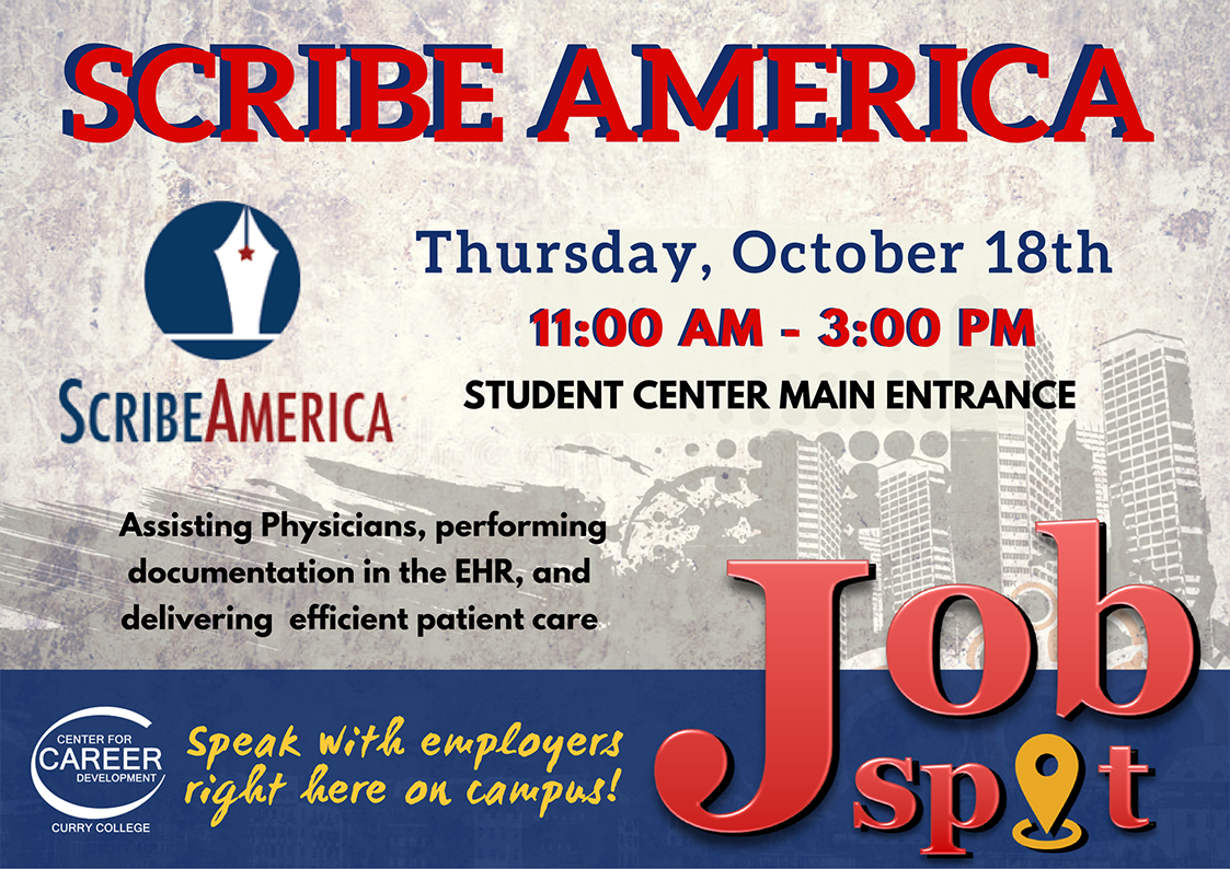 Curry College Event Calendar - Job Spot: Scribe America