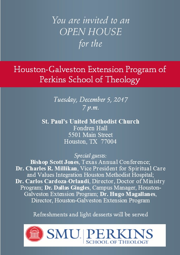 Perkins School of Theology - Open House for the Houston