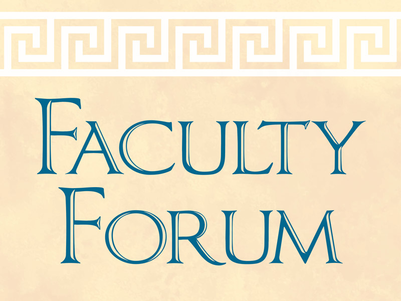 Faculty Forum - Drs. Kirsten Lodge and John Schulze