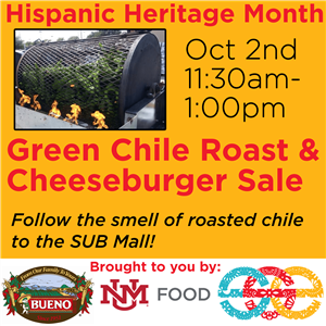 Image for: Green Chile Roasting and Green Chile Cheeseburgers - Hispanic Heritage Month