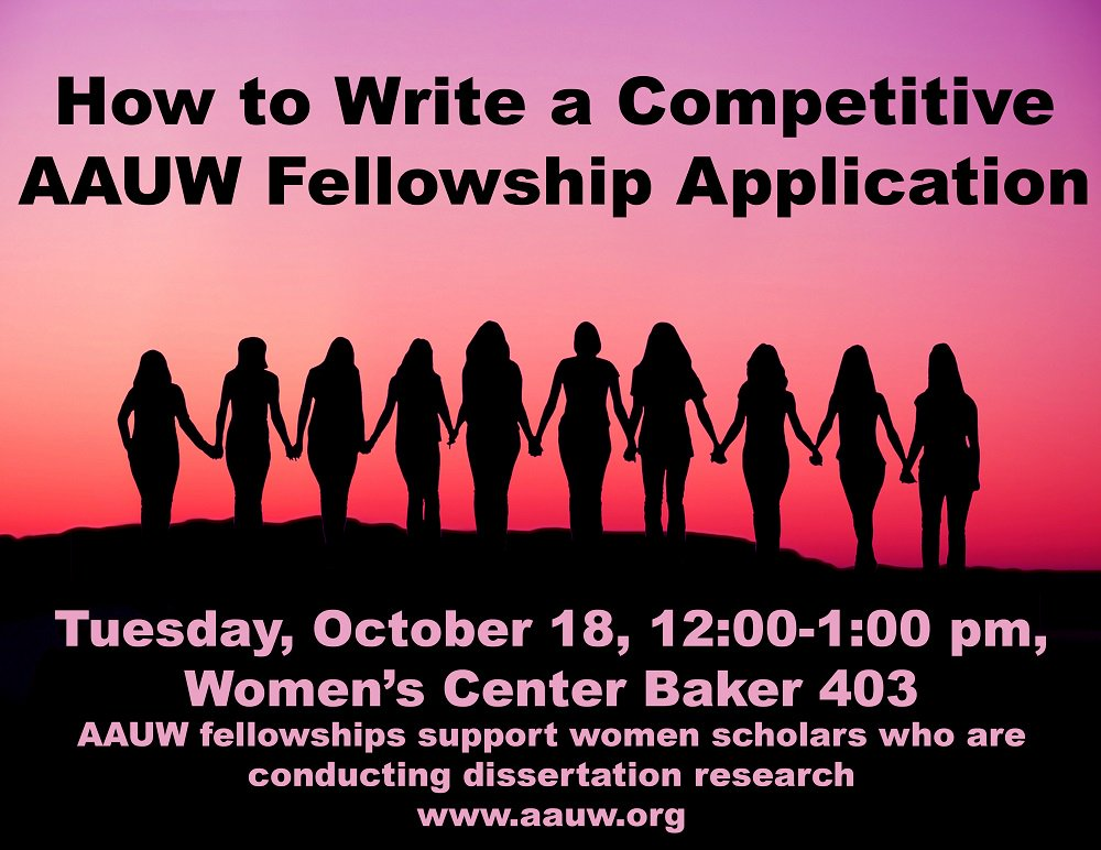 Workshop How To Write A Competitive AAUW Fellowship Application