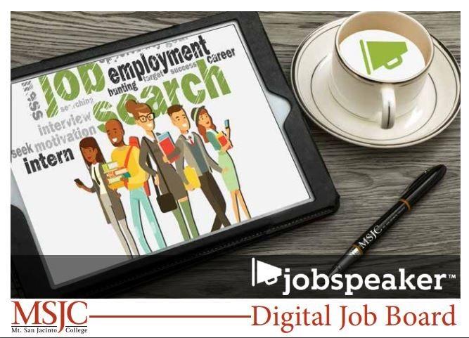 MSJC job speaker digital job board
