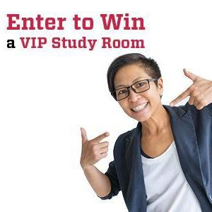 Image for: Deadline to enter to win a VIP Study Room