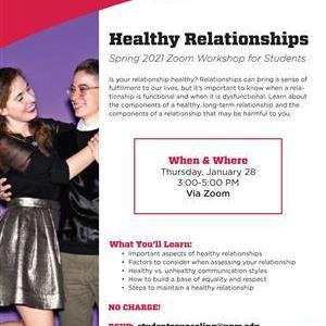 Image for: Healthy Relationships Zoom Workshop for UNM Students