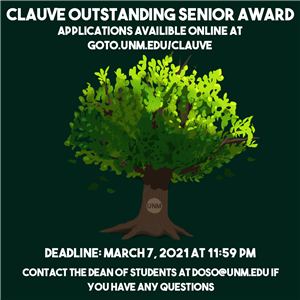 Image for: Clauve Outstanding Senior Award application