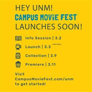 Image for: Campus Movie Fest - ASUNM Southwest Film Center